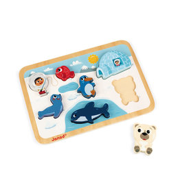 Juratoys Group (Janod) janod arctic chunky wooden puzzle