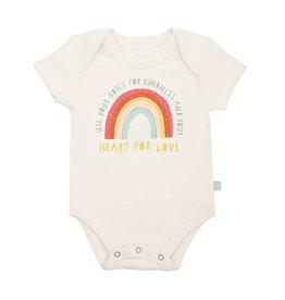 Finn & Emma finn and emma graphic bodysuit - kindness rainbow