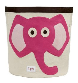 3 Sprouts 3 sprouts storage bin - pink elephant