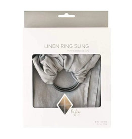Kyte Baby kyte baby linen ring sling birch with charcoal rings