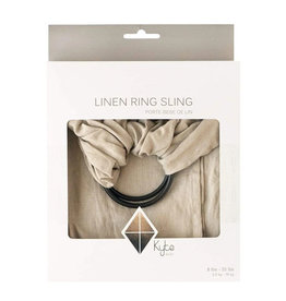 Kyte Baby kyte baby linen ring sling driftwood with black rings