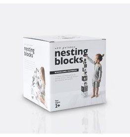 Wee Gallery wee gallery nesting blocks - woodland numbers