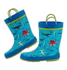 Stephen Joseph stephen joseph rain boot - deep blue shark