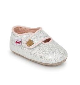 See Kai Run see kai run cruz crib shoe - silver glitter