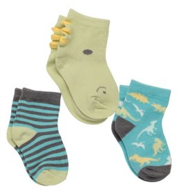 Stephen Joseph stephen joseph 3pk sock set - dino