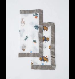 Little Unicorn little unicorn cotton muslin security blankets - bison + prickle pots