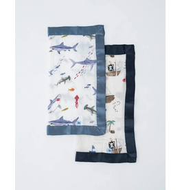 Little Unicorn little unicorn cotton muslin security blankets - shark + treasure map