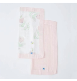 Little Unicorn little unicorn deluxe muslin security blankets - peony + blush