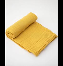 Little Unicorn little unicorn cotton muslin swaddle blanket - mustard