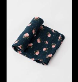 Little Unicorn little unicorn cotton muslin swaddle blanket - midnight rose