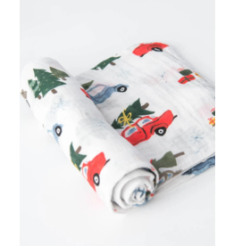 Little Unicorn little unicorn cotton muslin swaddle blanket - holiday haul