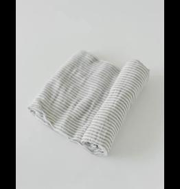 Little Unicorn little unicorn cotton muslin swaddle blanket - grey stripe