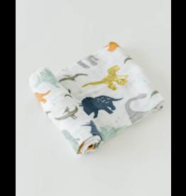 Little Unicorn little unicorn cotton muslin swaddle blanket - dino friends
