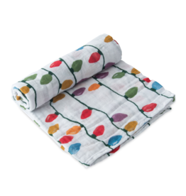 Little Unicorn little unicorn cotton muslin swaddle blanket - christmas bulbs