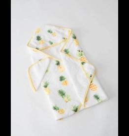 Little Unicorn little unicorn hooded towel + wash cloth set - pineapple