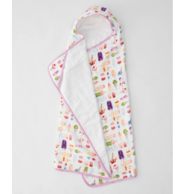 Little Unicorn little unicorn big kid hooded towel - brain freeze