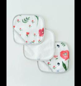 Little Unicorn little unicorn wash cloth set - summer poppy