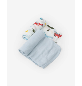 Little Unicorn little unicorn deluxe muslin swaddle blanket set - air show