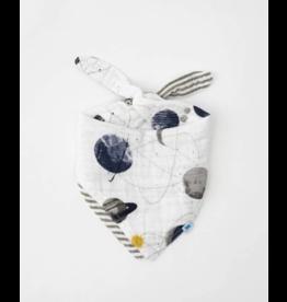 Little Unicorn little unicorn cotton muslin reversible bandana bib - planetary
