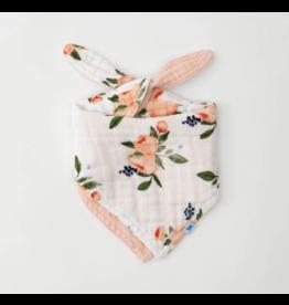 Little Unicorn little unicorn cotton muslin reversible bandana bib - watercolor roses