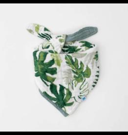 Little Unicorn little unicorn cotton muslin reversible bandana bib - tropical leaf