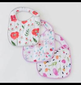 Little Unicorn little unicorn cotton muslin classic bib 3 pack - floral medley