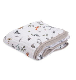 Little Unicorn little unicorn cotton muslin baby quilt - forest friends