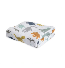 Little Unicorn little unicorn cotton muslin baby quilt - dino friends