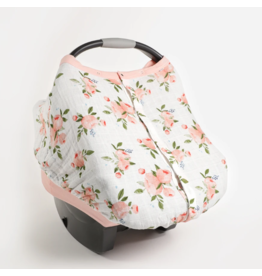 Little Unicorn little unicorn cotton muslin car seat canopy 2 - watercolor roses