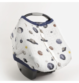 Little Unicorn little unicorn cotton muslin car seat canopy 2 - planetary