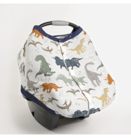 Little Unicorn little unicorn cotton muslin car seat canopy 2 - dino friends