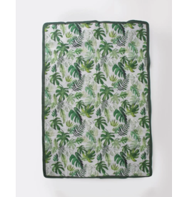 Little Unicorn little unicorn 5 x 7 outdoor blanket - tropical leaf