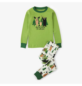 Hatley hatley may the forest be with you applique kids pajama set