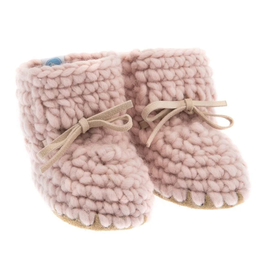 beba bean sweater moccs - pink