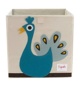 3 Sprouts 3 sprouts storage box - peacock