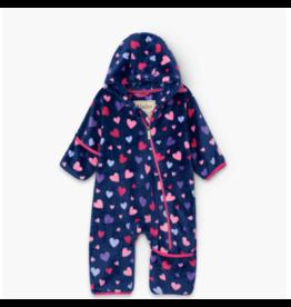 Hatley hatley confetti hearts fuzzy fleece baby bundler
