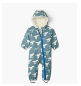 Hatley hatley t-rex sherpa lined colour changing baby bundler
