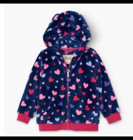 Hatley hatley confetti hearts fuzzy fleece hooded jacket