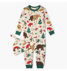 Hatley hatley woodland winter baby coverall & hat