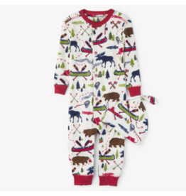 Hatley hatley sketch country baby coverall + hat
