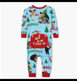 Hatley hatley wild about christmas baby union suit