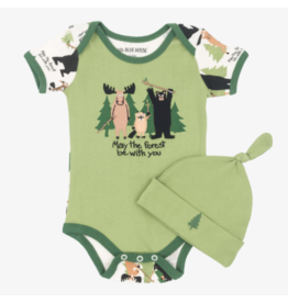 Hatley hatley may the forest be with you baby bodysuit + hat