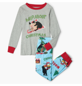 Hatley hatley wild about christmas kids applique pajama set