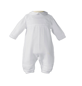 Little Things Mean A Lot little things mean a lot boys cotton knit baptism coverall