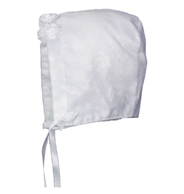 Little Things Mean A Lot little things mean a lot girls white poly-cotton baptism hat with lace overlay
