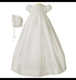 "Little Things Mean A Lot little things mean a lot girls 32"" dupioni silk smocked gown"