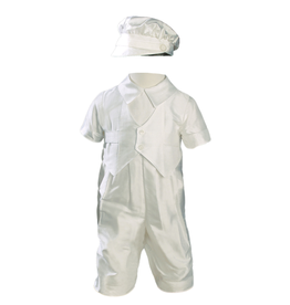 Little Things Mean A Lot little things mean a lot boys dupioni silk vested baptism coverall with hat