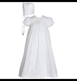 "Little Things Mean A Lot little things mean a lot girls 25"" split panel cotton christening gown"