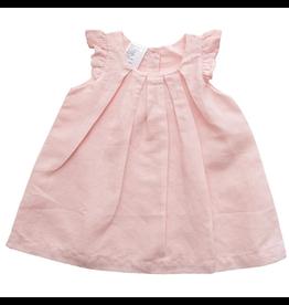 beba bean box pleat linen dress in pink
