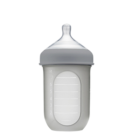 Boon boon nursh 8oz silicone bottle - light gray
